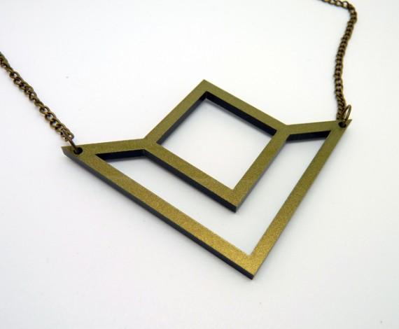 Collier Electrolise géométrique