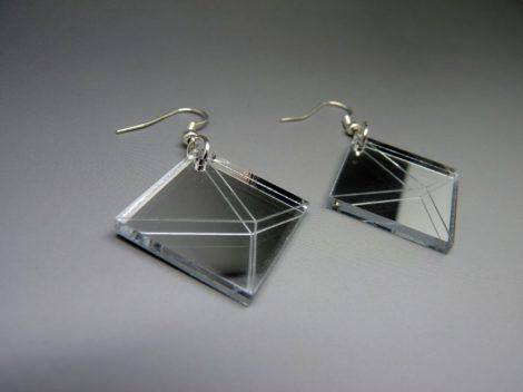 Boucles d'oreilles carrées
