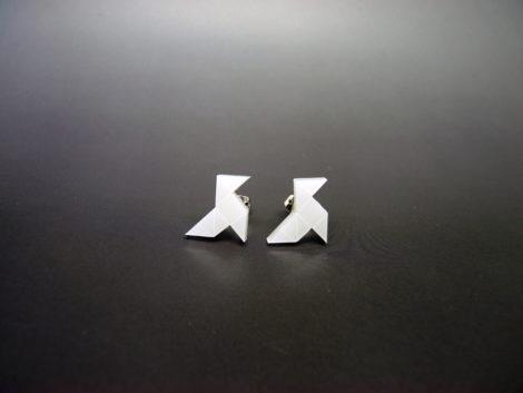 Boucles d'oreilles cocottes blanches