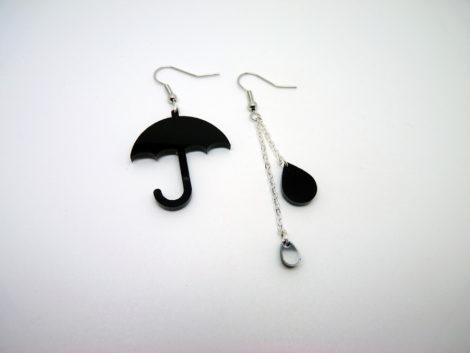 boucles d'oreilles parapluie