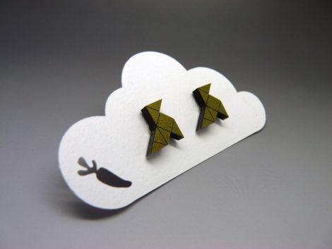 Boucles d'oreilles cocottes origami